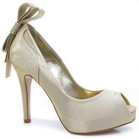Sapato Laura Porto Peep Toe Laço | Zariff