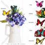 Kit ( 6 Un) Borboleta Solar Enfeite P Jardim/vaso/jardineira