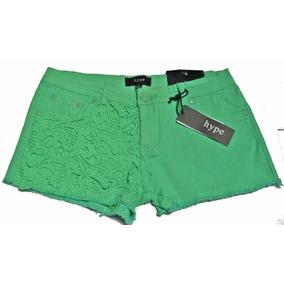 Shorts Mezclilla Color Menta Aplicaciones Crochet 7 Juvenil