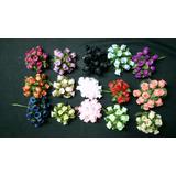 Flores Artificiales De Tela (paq X 144 Unid)
