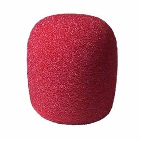 Espuma Vermelha Para Microfone De Mão