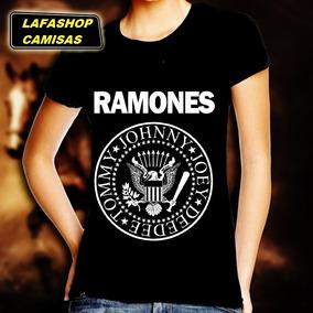 Camisa Ramones Baby Look Feminina Camiseta Mulher Banda Rock