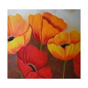 cuadros flores modernos x cm envio gratis