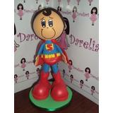 Boneco Superman Em Eva 3d 15 Cm - Heróis Liga Da Justiça