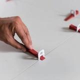 Espaçador Piso/ Porcelanato Retificado 1mm - Pct. C/50unid