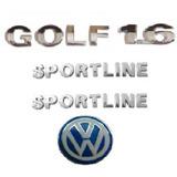 Kit Emblemas Golf 1.6 Sportline Emblema Chave Canivete Vw
