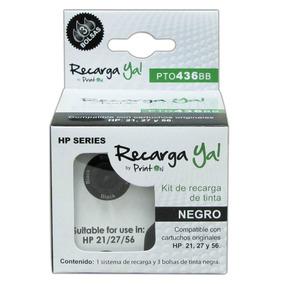 Sistema Recarga Printon Neg Compatible Hp 21/27/56 Pto436bb