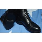 Zapatos De Cuero Abotinado Y Suela Nuevos !!