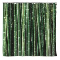 Kikkerland Baño Cortina Con Diseño Bamboo