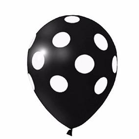 Balão Latex Bexiga Póa Preto - Pct 25 Balões