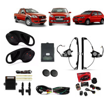 Kit Vidro Eletrico Palio Strada 04 A2011 2pts +trava +alarme