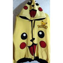Chamarra Sudadera Pikachu Pokemon Unisex Niño O Niña