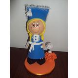Boneca Educação Infantil Azul Em Eva 3d 23 Cm - Escolar