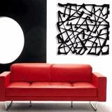 Adorno De Parede Abstrato Em Mdf Decorativo / Arte Moderna
