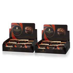 Dos Cajas Alfajores Cachafaz Mousse Chocolate 2 X 12u