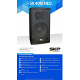 Parlante Pasivo Sk4015 1600w Skp 2 Vías 101db