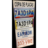 Copia De Placa Para Vehiculos En Metal Con Relieve