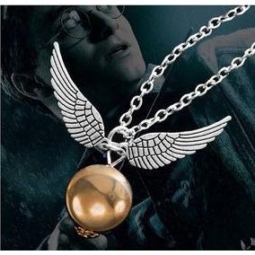 Colar Pomo De Ouro - Harry Potter Filme Folheado A Prata