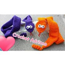 Bufanda Serpiente Tejida Crochet Envio Gratis