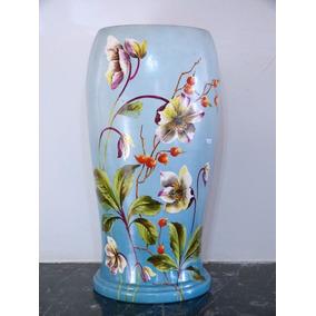 Jarrón De Porcelana Antiguo Origen Alemán Art Nouveau