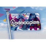Banderas Personalizadas 1.40 X 0.70 Tela Lavable Cosidas