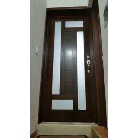 Puerta de madera con vitral en mercado libre m xico - Puertas de madera economicas ...