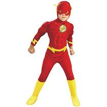 Disfraz De Flash Con Pechera Músculosa Para Niño Talla Xs