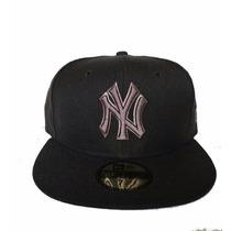 Gorra New Era 59fifty Yankees Oficial Mlb Negro Gris 7 1/4