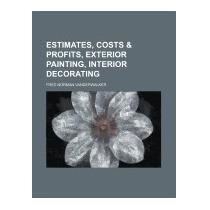 Libro Estimates, Costs & Profits,, Fred Norman Vanderwalker
