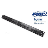 Patch Panel Amp / Tyco 24 Portas Cat6 - Sem Nf