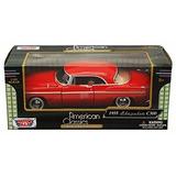 1955 Chrysler C300, Rojo - Motormax Escala 1/24 Diecast Mo