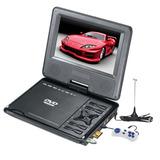 Dvd Portatil Lcd 9,8 Tv Usb Sd 3d Juegos + Soporte Para Auto