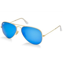 Lentes Ray Ban Aviator (aviador) 3025 Azul Nuevos!