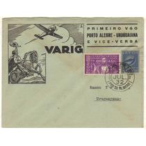 17359 Envelope Circulado Via Varig Porto Alegre Uruguaiana
