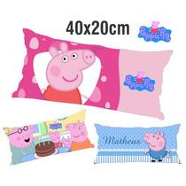 10 Travesseirinhos Almofadas Lembrancinha 40x20 Peppa Pig