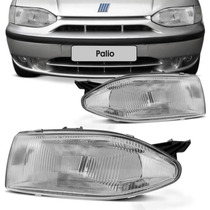Farol Palio G1 96 97 98 99 2000 Young Cromado Foco Simples