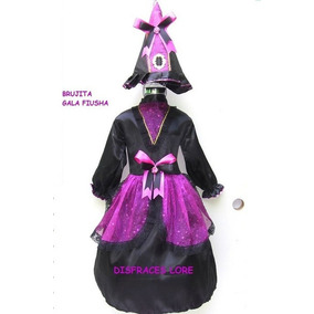 Disfraz Bruja Talla 7/8 Años Inlcuye Mallas Sombrero Niñas