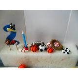 Kit Para Torta Para Niño Balones Masa Flexible