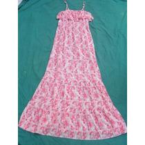 Vestido Solero Largo Mujer Con Breteles Talle S