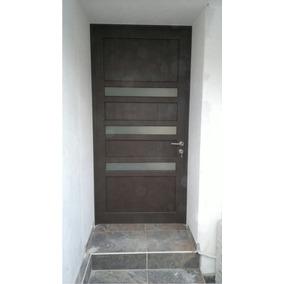 Puerta Principal De Aluminio Terminado Madera