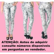 Calça Jeans Legging Resinada Sawary Linda Feminina (234947)