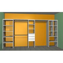 Vestidor E Interiores Blanco+abs 3.60x1.80x0.45 M.
