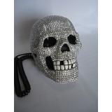 Telefone Caveira White Skull Com Strass