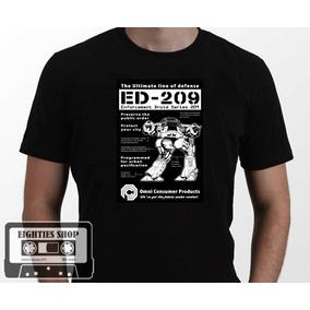 Camiseta Robocop Ed-209 Anos 80 Robô Rock Series Humor