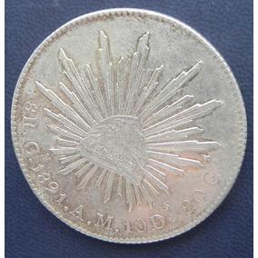 Moneda Mexico 8 Reales 1891 Am Ceca Culiacan Excelent Plata