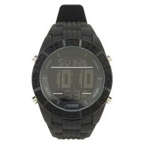 Reloj Aeropostale Negro Redondo Para Caballero 100% Orig
