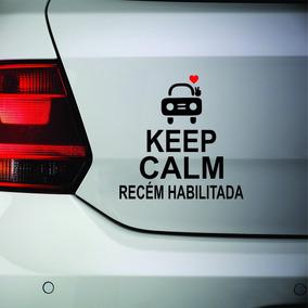 Adesivo Keep Calm Recém Habilitada (o) Para Carro 22cm A372
