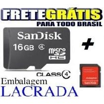 Cartão Memória Micro Sd 16gb Class Celular Samsung S5 S6