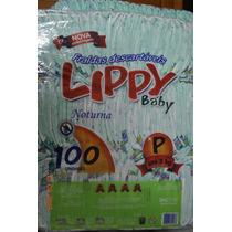 Fralda Noturna Infantil Lippy Baby P - Pacote Com 100 Unid