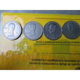Monedas Madero 500 Pesos Años 1986, 1987, 1988, 1989